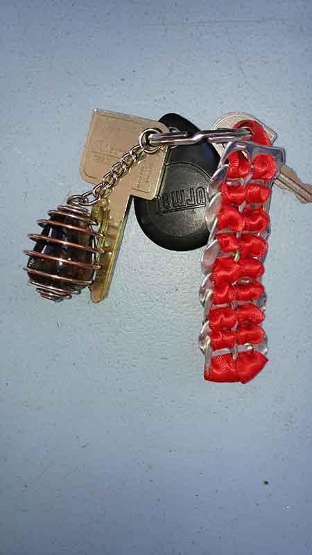 porte clé capsule canette