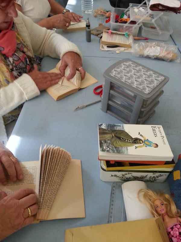 atelier recyclage de livres