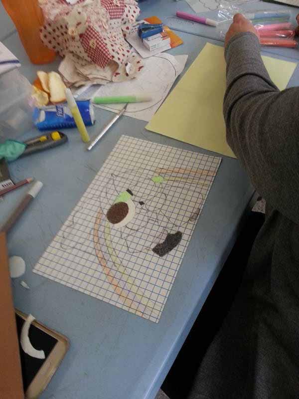 atelier peinture avec du sable