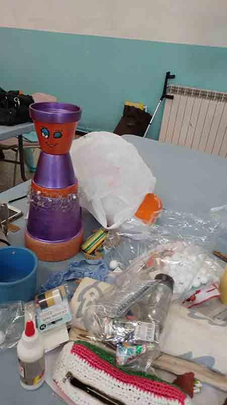atelier decoration pot en terre cuite