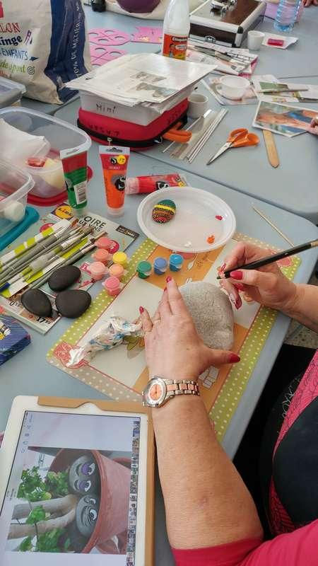 atelier peinture sur galet