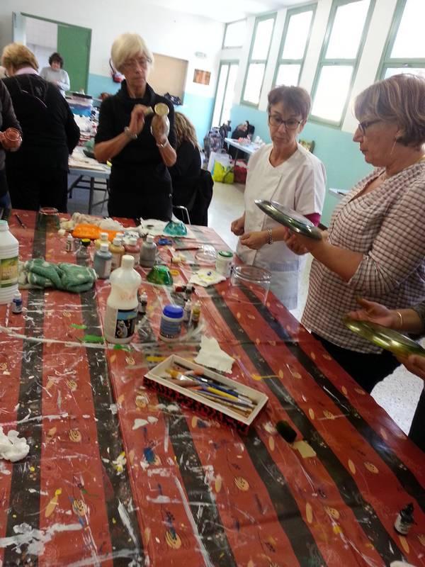 atelier peinture et encre sur verre