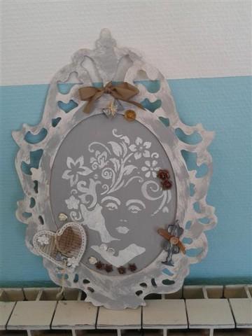 Cadre baroque ange