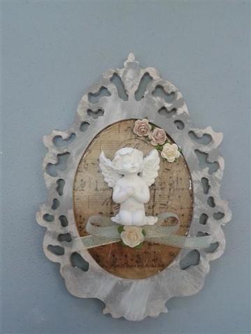 Cadre baroque petit marie ange